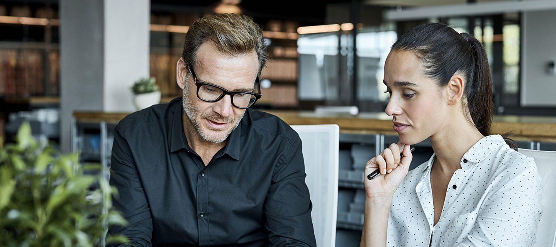 Sales coaching meeting